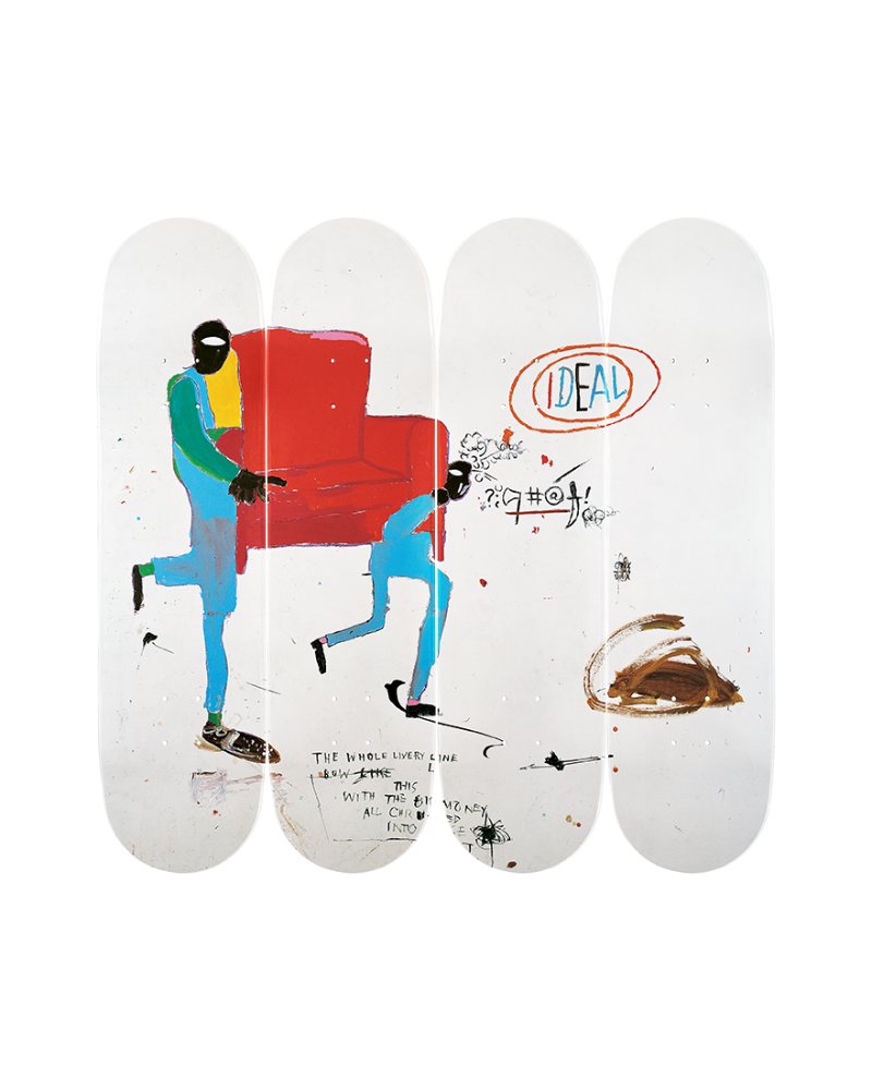 Jean-Michel Basquiat's - Light blue movers